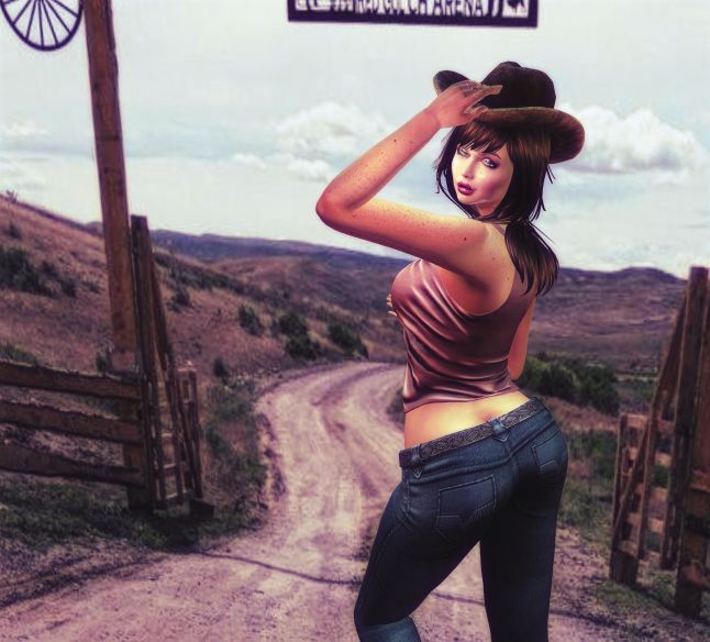 UNLOCKED - FEB - Top and Pants - cowgirl_002A