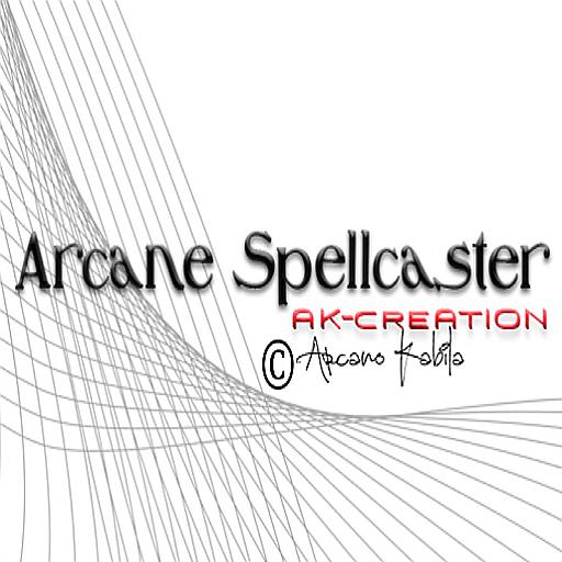 Logo _Arcane Spellcaster_ Ak-Creations.